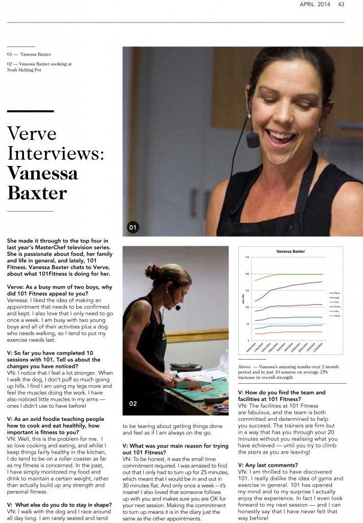 101 fitness Vanessa Baxter