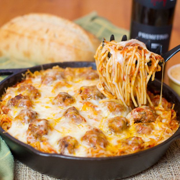 1. Baked Spaghetti w/Meatballs | 23 Food Bloggers Share Their Most Popular Recipes With You