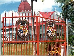 The Royal Palace.  My mom and dad were guest of the King and Queen here many times!  Tonga, Friendly Islands