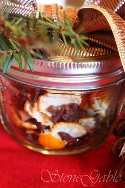 StoneGable: Simmering Christmas Potpourri to give as gifts.
