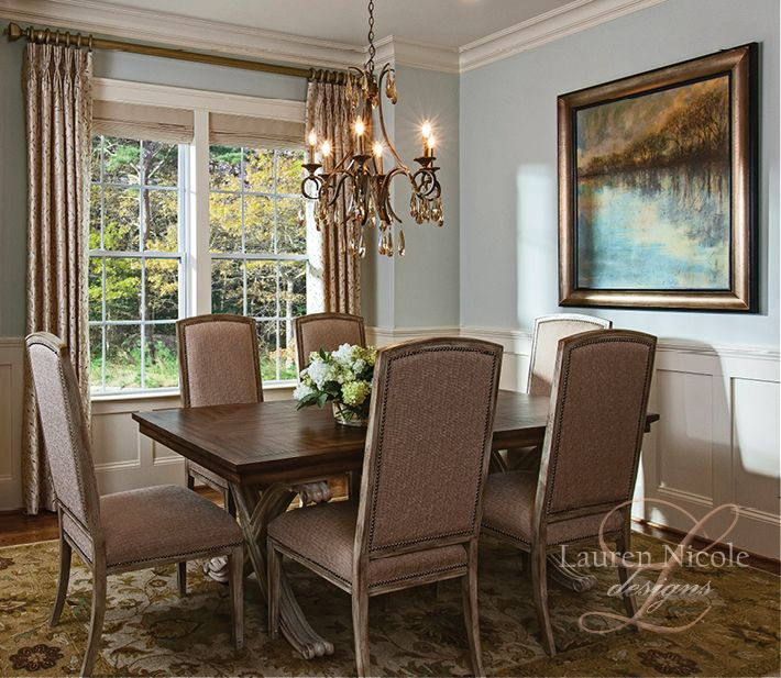 131 best images about lauren nicole designs dining room for Light blue dining room ideas