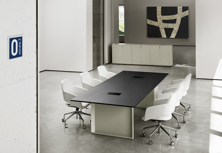 MV, conference table by AG Land 14, Barcelona & Major chairs By SITIA