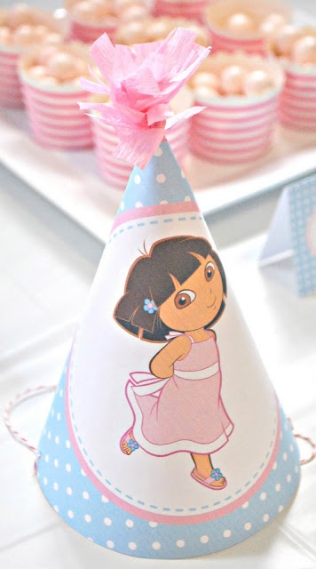 Girly Dora The Explorer Birthday Party - Kara's Party Ideas - The Place for All Things Party