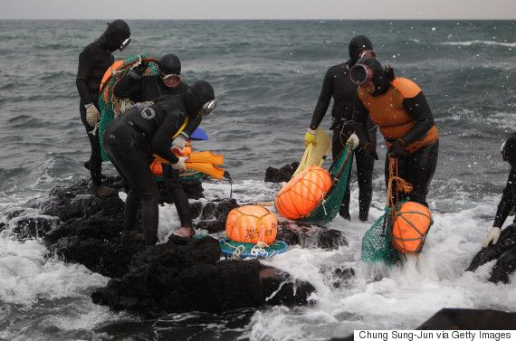 Haenyo: Οι τελευταίες «γοργόνες» από την Κορέα που βουτούν στα παγωμένα νερά για όστρακα