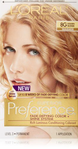 99! L`Oreal Paris Superior Preference Hair Color, 8G Golden Blonde