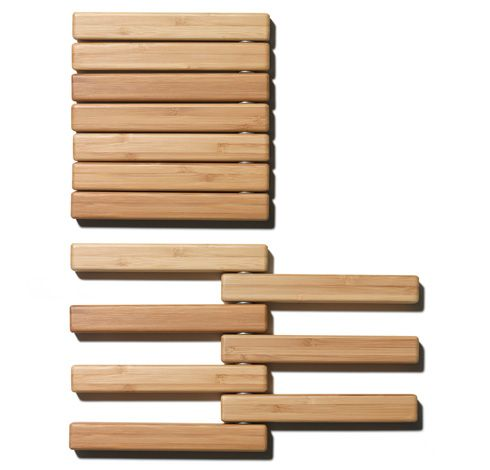 The idea for the Hot Pot trivet came about 2002. Åsa Mc Cormac's love for making big casseroles and not finding a trivet big enough and at the same time small enough to fit in a small kitchen drawer. The Hot Pot trivet is made of bamboo, a wood-like grass known for its strength...