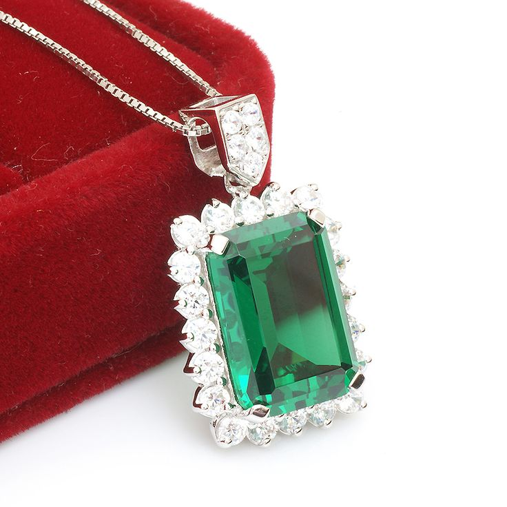 Luxury Jewelry Big 9.5ct Genuine Emerald Pendant For Women Only $126.6 => Save up to 60% and Free Shipping => Order Now! #Bracelets #Mystic Topaz #Earrings #Clip Earrings #Emerald #Necklaces #Rings #Stud Earrings