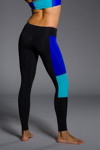 WOMENS LEGGINGS - ONZIE Peace Pant - Royal Blue Combo