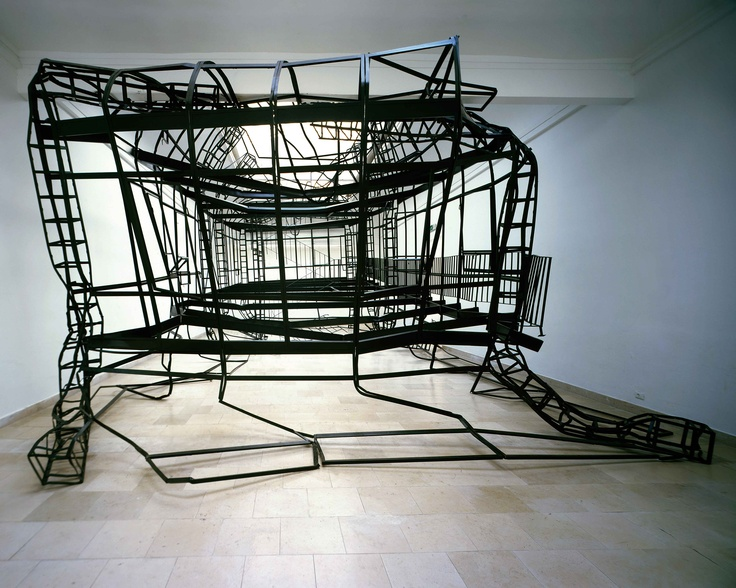 Monika Sosnowska: 1:1, 2007. Installation view: Polish Pavilion, Venice Biennale, June 10–November 21, 2007. Courtesy the artist. #HBP2012
