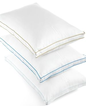 Closeout! Lauren Ralph Lauren Lawton Down Alternative Extra Firm Standard Gusset Pillow, 300 Thread Count - White