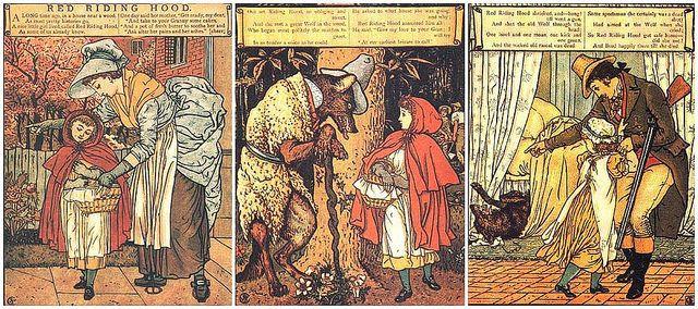Caperucita Roja según los Hermanos Grimm.   Algún día en alguna parte