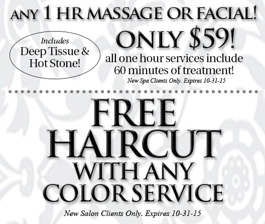 September Spa and Salon Specials at Plum Salon and Spa