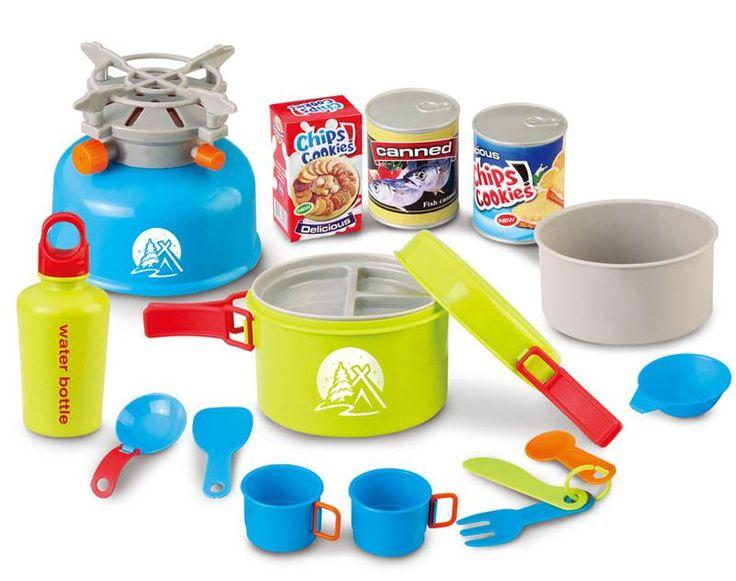 Berry Toys BR008-80D Little Explorer Camping Cooker 15-Piece Play Set