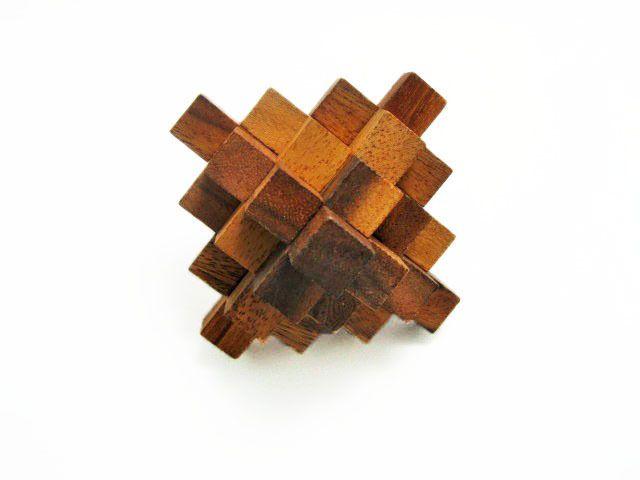 CRYSTAL 19, BURR PUZZLE, 3D Wooden Game, Interlocking Puzzle, Brain Teaser…