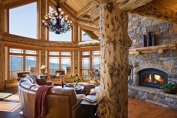 Love this (via mountain log homes)