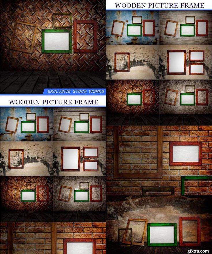 ستوكات اطارات وبراويز خشبية للصور الشخصية Photoshop Frame Decor