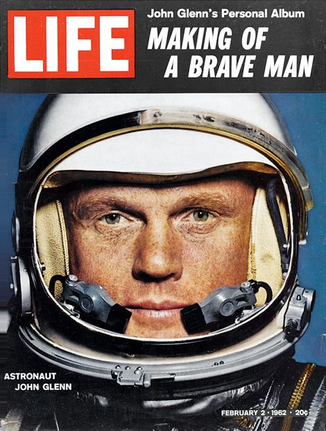 Astronaut John Glenn on the cover of Life magazine, March 2, 1962.
