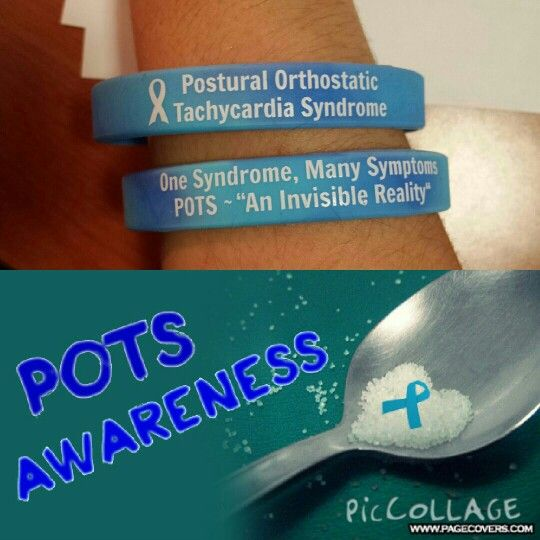 Postural Orthostatic Tachycardia Syndrome awareness bracelets I made. Spread the word.
