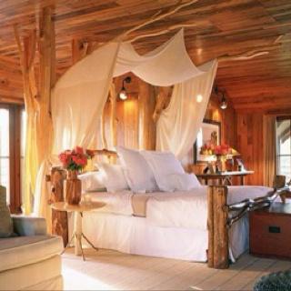 Beautiful cabin bedroom