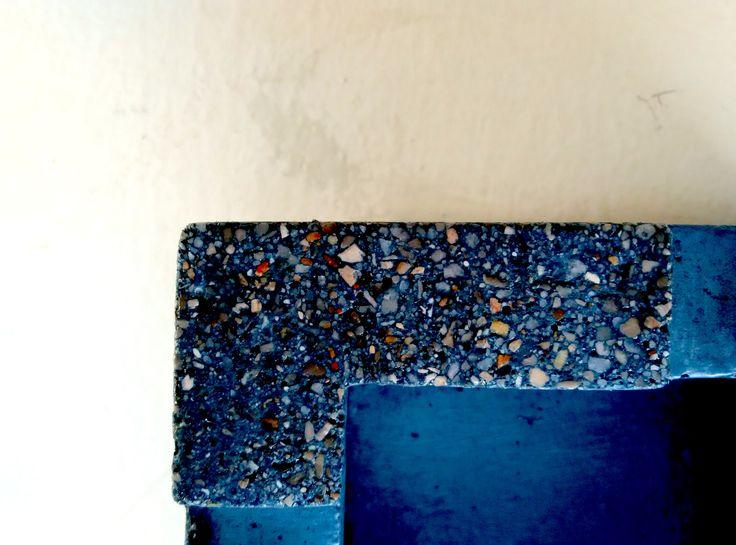 #concrete #ashtray #greymatters #blue #color #texture #beton #creations