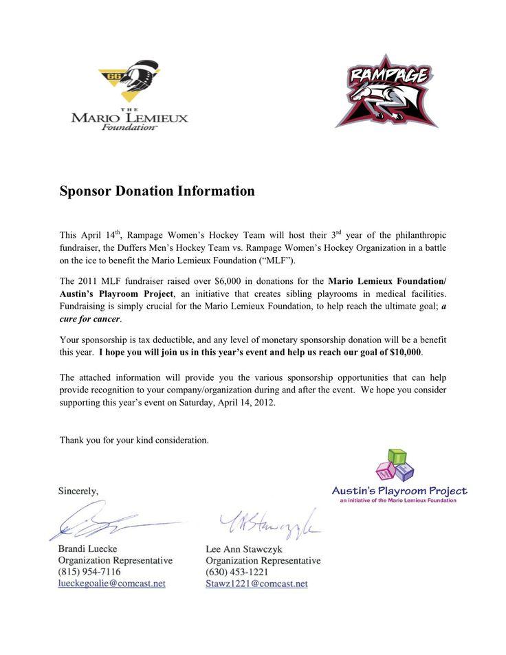 17 event sponsorship letter samples