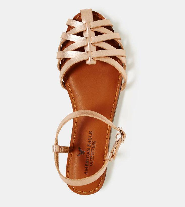 Rose Gold huarache sandals