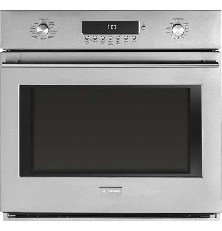 """ZET1SHSS - GE Monogram® 30"""" Electronic Convection Single Wall Oven - The Monogram Collection"""