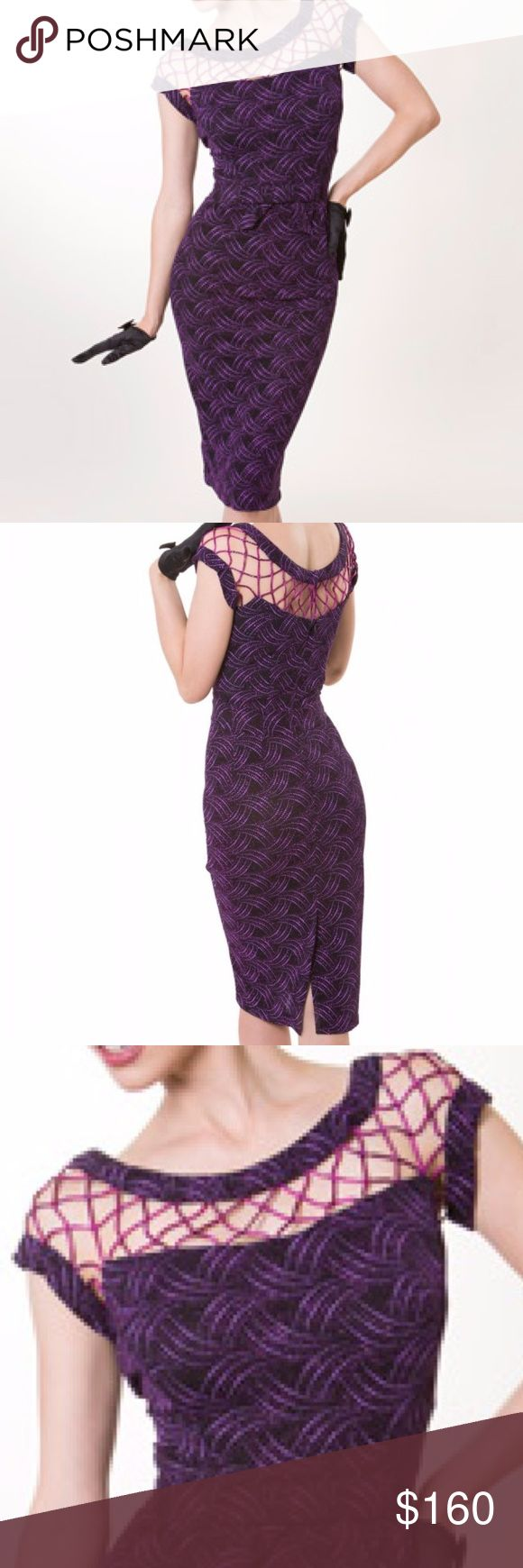 "Tatyana Tempest Storm Seduction Bead Pencil Dress Brand New with Tags SOLD OUT IN STORES Seduction by Tatyana Tempest Strorm Collection This dress features a short sleeved caged detailed neckline with a bow accessorized empire waist. This dress is purple in color and fully beaded.  From the Tempest Storm collection Three eye hook closures are above a  hidden metal zipper and ends with a striking slit. Lined.  Made of a nylon/spandex blend/beaded.  Dry-clean only. 2XL Bust 42""-44"" Waist…"