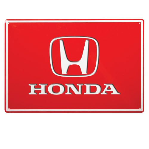custom honda tin sign 15 x 23 embossed custom tin