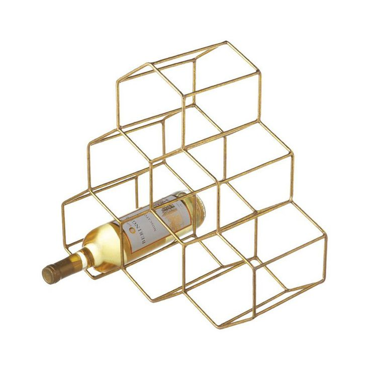 We're loving the sleek, minimal look of the Hex Wire Wine Rack. Finished in gold, this honeycomb wine bottle holder makes for a stylish addition to the buffet. Each compartment adds geometric appeal wi...  Find the Hex Wire Wine Rack in Gold, as seen in the Seasonally Styled by Stephanie Collection at http://dotandbo.com/collections/seasonally-styled-by-stephanie?utm_source=pinterest&utm_medium=organic&db_sku=106199