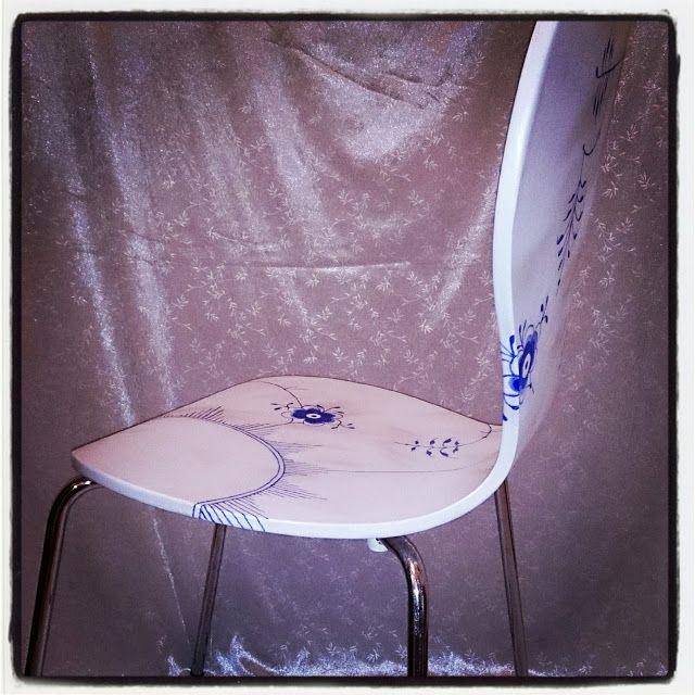 Pulverhexen's DIY: Chair a la Royal Copenhagen Mega-mussel