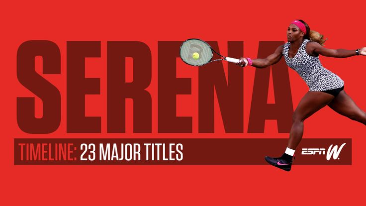 Road to 23 -- The story of Serena's path to greatness  espn.com ... Serena Williams has done it -- she's won her record 23rd Grand Slam title.