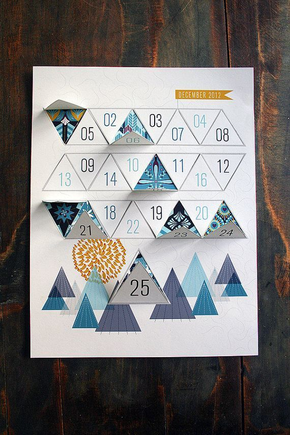 Modern Advent Calendar Printable PDF by JhillDesign on Etsy, $3.0...