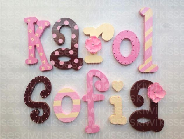 1000 images about nombres en madera on pinterest mesas - Ideas para decorar letras de madera ...