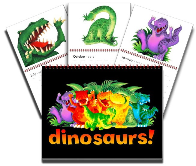 Dinosaur calendar by Paul Stickland for DinosurStore on Zazzle #dinosaurs