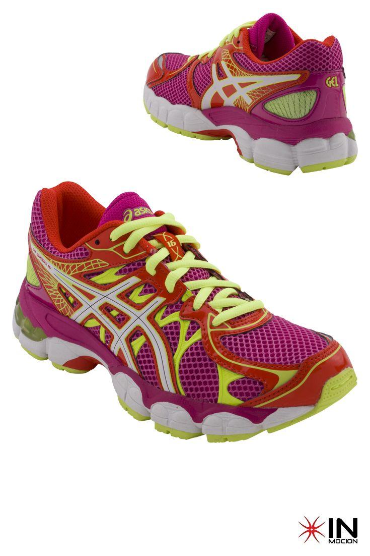 #Asics Gel Nimbus 16 GS Tamanhos: 35.5 a 39.5  #Sneakers mais informações: http://www.inmocion.net/Asics-Gel-Nimbus-16-GS-C433N-292-pt?utm_source=pinterest&utm_medium=C433N-292_Asics_p&utm_campaign=Asics