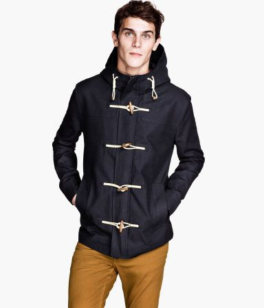 I love duffle coats on men and women, and this particular one for men's is both handsome and well priced.