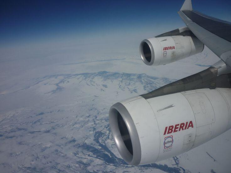 Sobrevolando Groenlandia desde un A-340 de Iberia