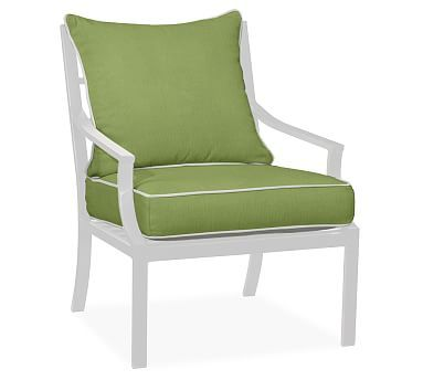Faraday/Riviera Armchair Replacement Cushion Set, Sunbrella(R) Contrast  Piped, Peridot Part 83