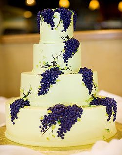 Purple Grapes on Wedding Cake!  I wish I had done this on my cake!