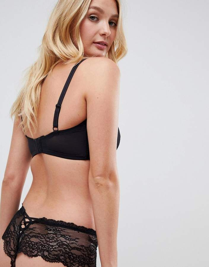 8bfe68eafbe5d Pour Moi  Pour Moi Ditto underwired bralette in black  Ditto Moi Pour