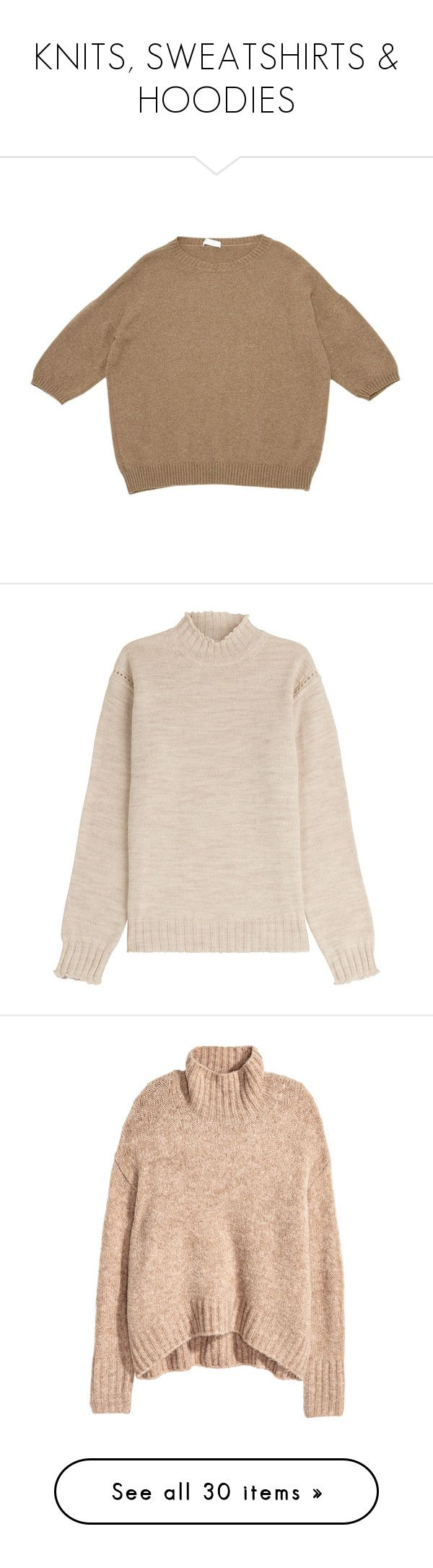 """KNITS, SWEATSHIRTS & HOODIES"" by mydntkrl ❤ liked on Polyvore featuring tops, sweaters, brown, women clothing knitwear, wool cashmere sweater, jumper top, knitwear sweater, cashmere jumpers, brown top and jumper"