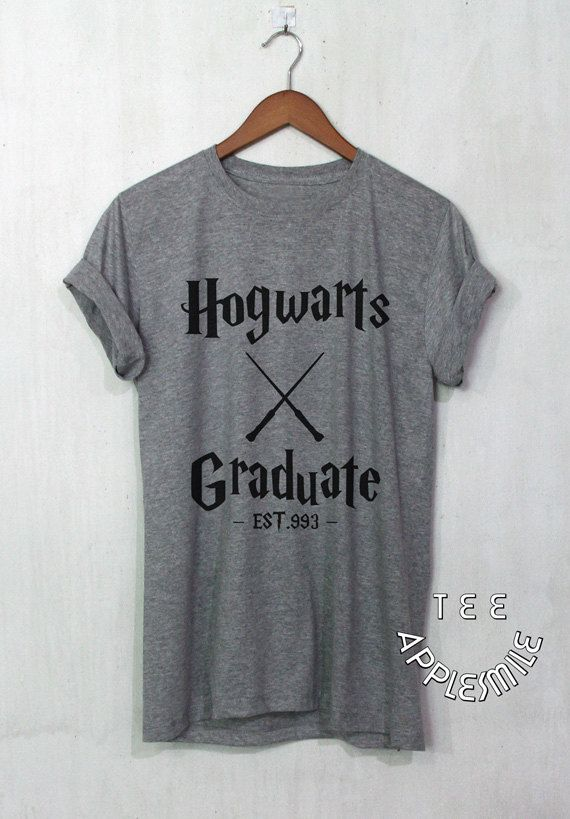 Hogwarts Graduate shirt Harry Potter Clothing tshirt Tee unisex t-shirt size S to 2XL  SIZE TABLE:  S - Chest Width 36 Length 28 M - Chest Width 38