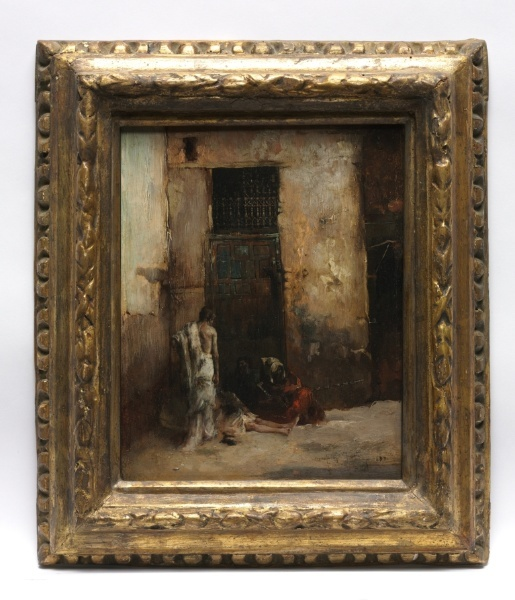 Beggars by a Door, 1870; Mariano Fortuny y Carbó (Spanish, 1838-1874); Cleveland Museum of Art