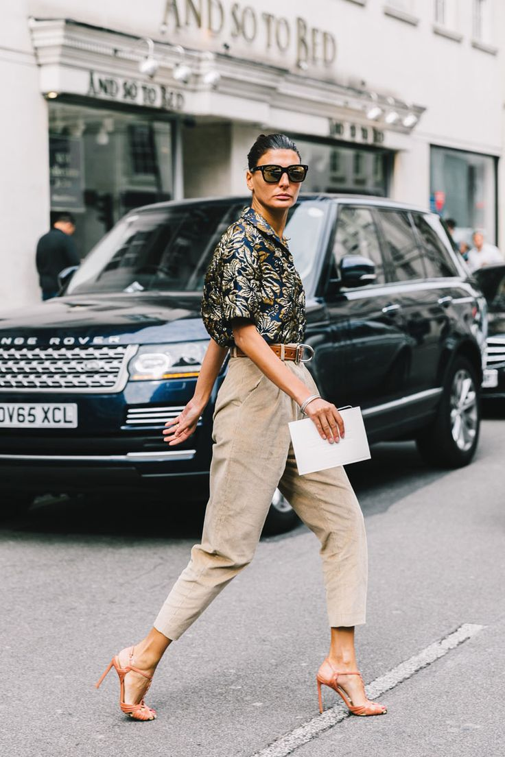 Giovanna Battaglia. street style londres fashion week septiembre 2016 dia 3