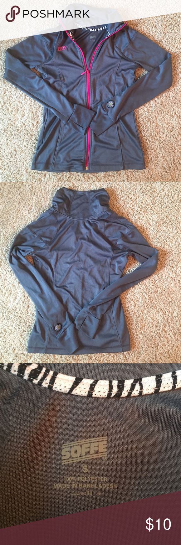 Zip up athletic jacket Grey zip up. 100% polyester great condition. Like new Soffe Jackets & Coats