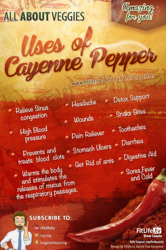 Uses of Cayenne Pepper! LIKE to support our Infographics :)