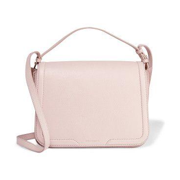 On SALE at 55% OFF! suede-paneled textured-leather shoulder bag by Dolce & Gabbana. Dolce & Gabbana pastel -pink bag . Textured -leather . Adjustable shoulder strap . Gold designer stamp, suede side pa...