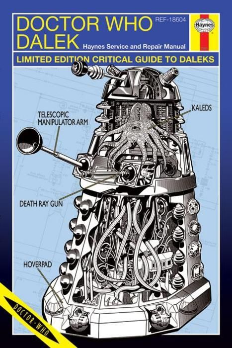 So you can maintain and repair your Dalek :)Guide To, Doctorwho, The Doctor, Dalek, Haynes Manual, Ice Cream, Doctors Who Stuff, Dr. Who, Nerdy Pictures