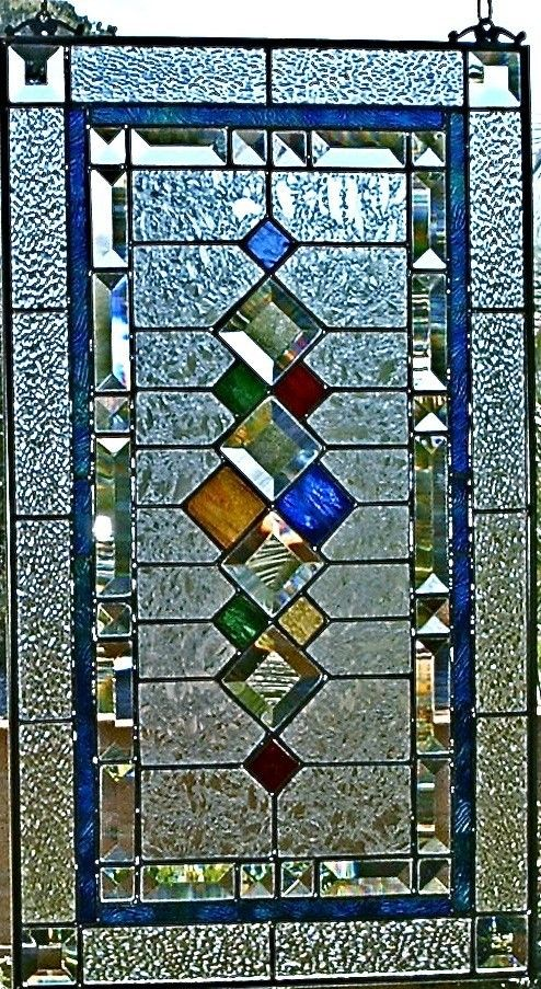 Stained Glass Window Panel Retro Ii Custom Made To Order